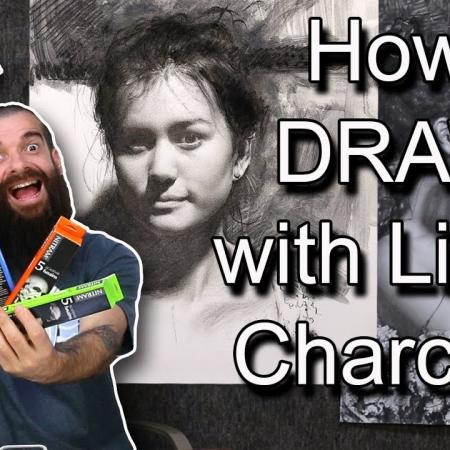 How I Draw with Nitram's Liquid Charcoal/Demonstration. Cesar Santos vlog 079
