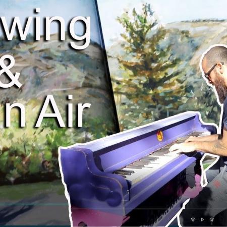 Drawing and Plein Air Painting in Colorado. Cesar Santos vlog 066