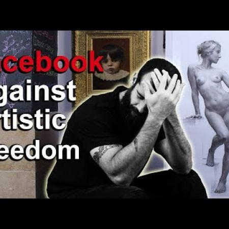 Facebook Censored My Charcoal Drawing. Cesar Santos vlog 030