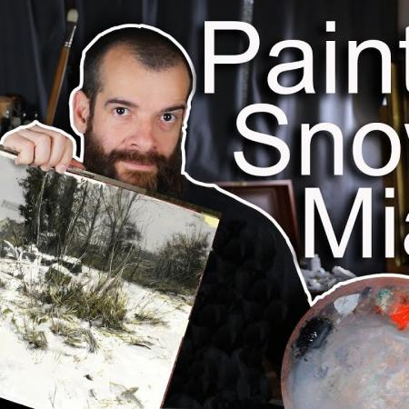 Painting a Winter Landscape with Zorn's Limited Palette. Cesar Santos vlog 074