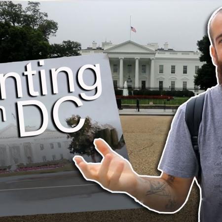 Painting the White House in Washington, DC. Cesar Santos vlog 064