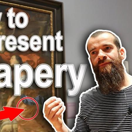 Seven Ways to Paint Drapery Like the Masters. Cesar Santos vlog 050
