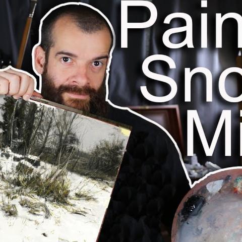Painting a Winter Landscape with Zorn's Limited Palette. Cesar Santos vlog 074